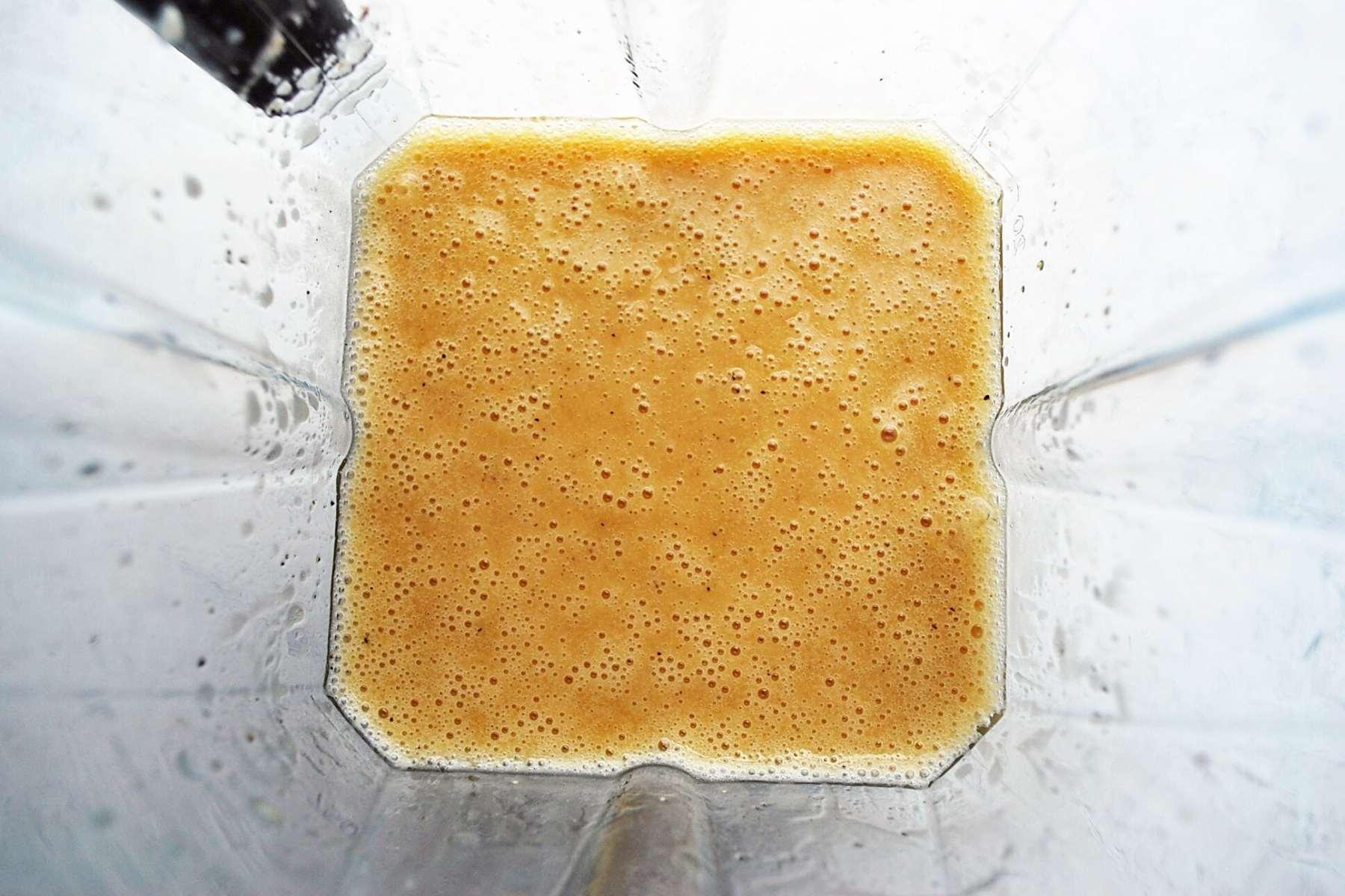 vinaigrette blended in a Vitamix
