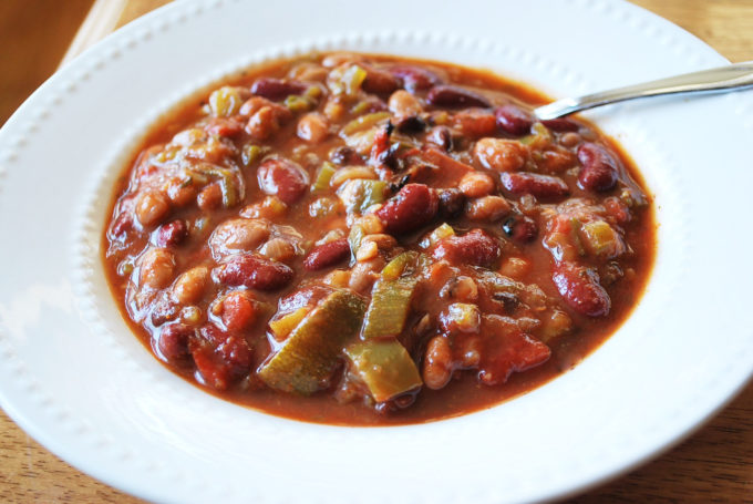 Slow Cooker Vegetarian Chili recipe