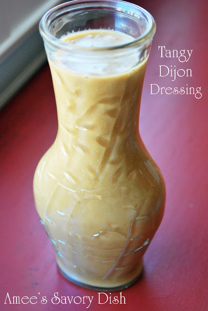 Tangy dijon dressing is a sugar-free salad dressing that is heart-healthy and delicious! This salad dressing recipe can be used as a healthy dip, too.