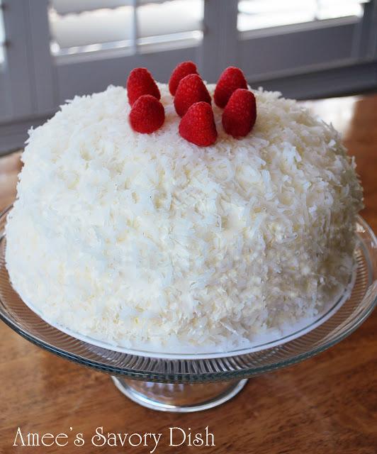 coconut raspberry vanilla bean cake