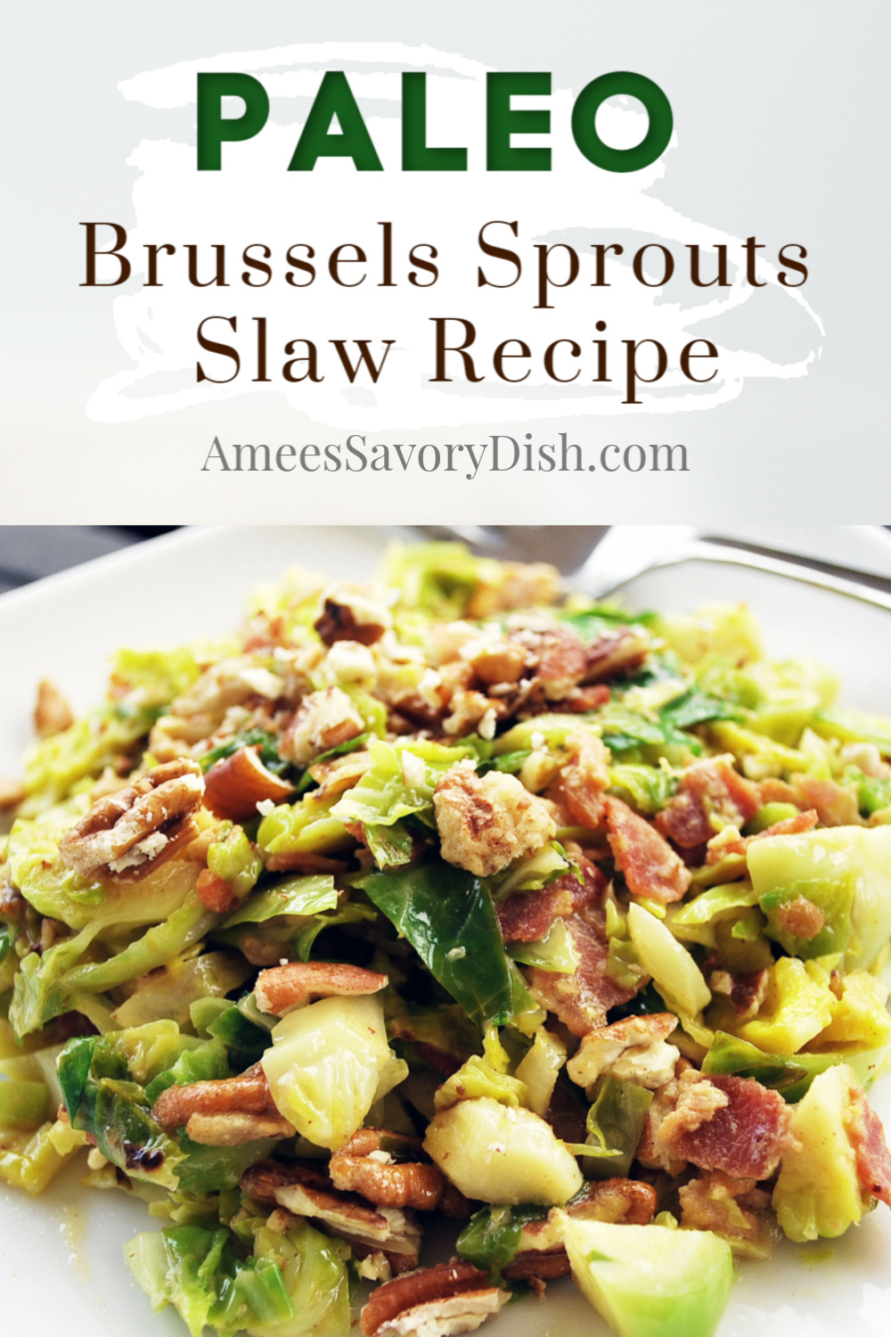 Brussels sprouts slaw is a delicious and healthy side dish, and a great way to enjoy eating Brussels sprouts if you think you're not a fan. Even picky eaters love this Brussels sprouts slaw recipe. via @Ameecooks