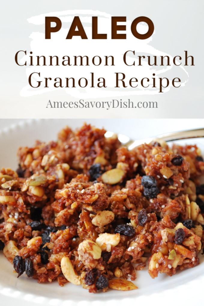Cinnamon Crunch Paleo Granola recipe