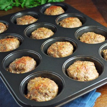 mini quinoa meatloaves in a cupcake pan