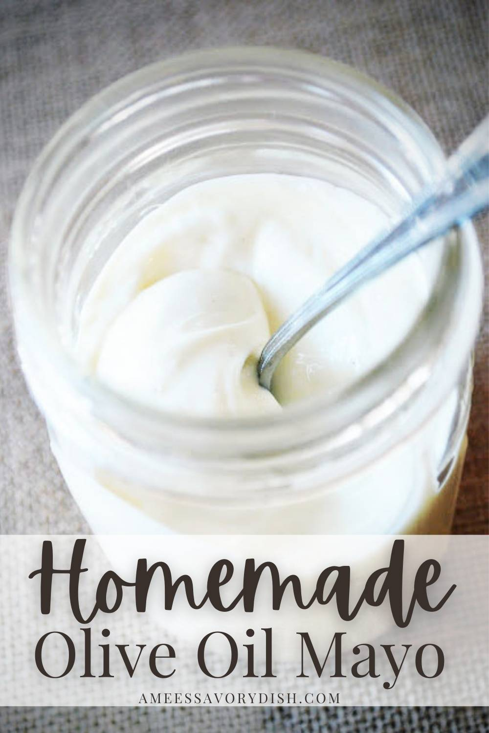 A simple recipe for homemade olive oil mayonnaise made with extra light olive oil, egg, ground mustard, and lemon juice in the food processor.#homemademayonnaise #paleomayo #homemademayo #oliveoilmayo #paleorecipe via @Ameessavorydish