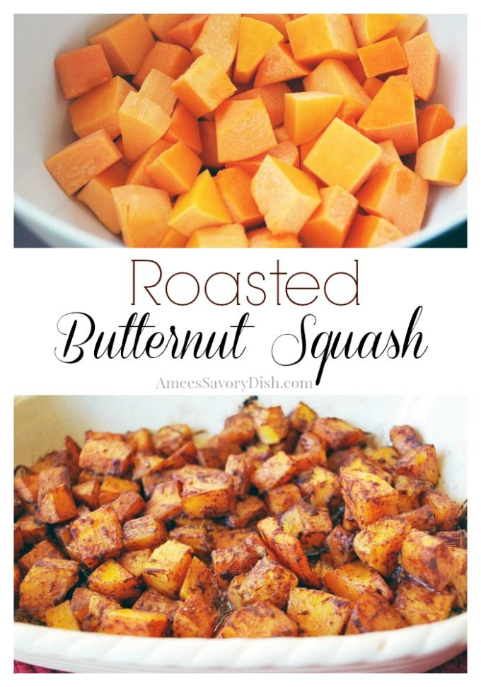 roasted butternut squash photo collage