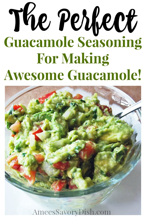 This homemade guacamole recipe is made from ripe avocados, tomatoes, onion, fresh cilantro lime juice... and a secret ingredient that makes the perfect guacamole seasoning to take your guacamole to a whole new level. #guacamole #guacamolerecipe via @Ameecooks