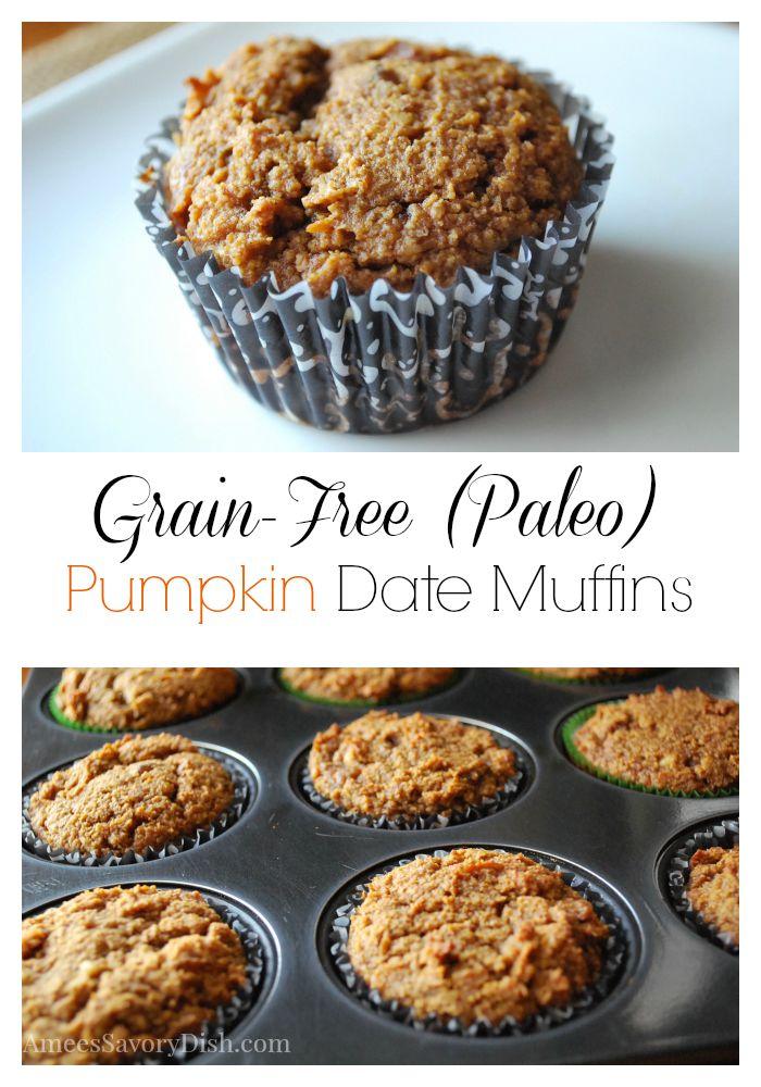 Grain Free Pumpkin Date Muffins