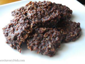 Healthier Chocolate No Bake Cookies