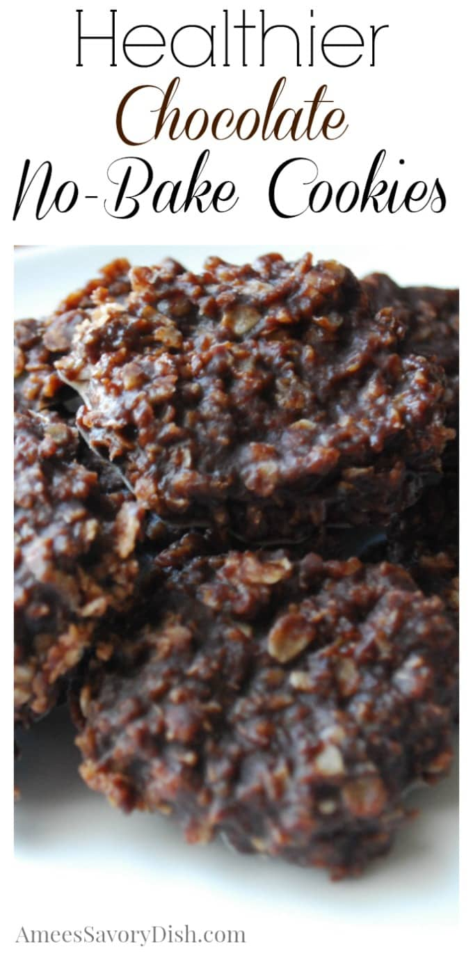 Healthier Chocolate No Bake Cookies recipe