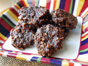 Healthier Chocolate Peanut Butter No-Bake Cookies