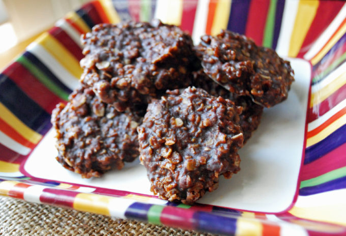 Healthier Chocolate Peanut Butter No-Bake cookies