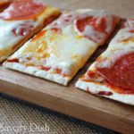 pepperoni grilled flatbread pizza