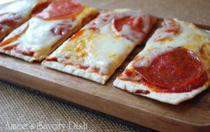Pepperoni and Buffalo Mozzarella Grilled Flatbread Pizza