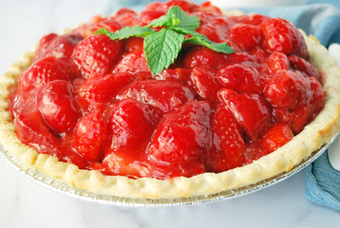 This is truly the best ever no sugar added fresh strawberry pie recipe!