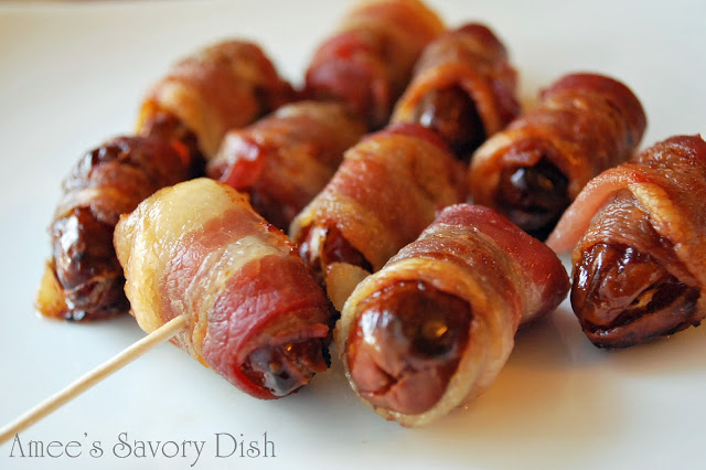 Bacon Wrapped Stuffed Dates