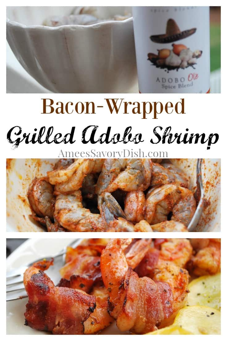 Bacon Wrapped Grilled Adobo Shrimp