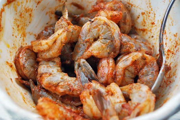 Raw shrimp tossed in Southwest spices