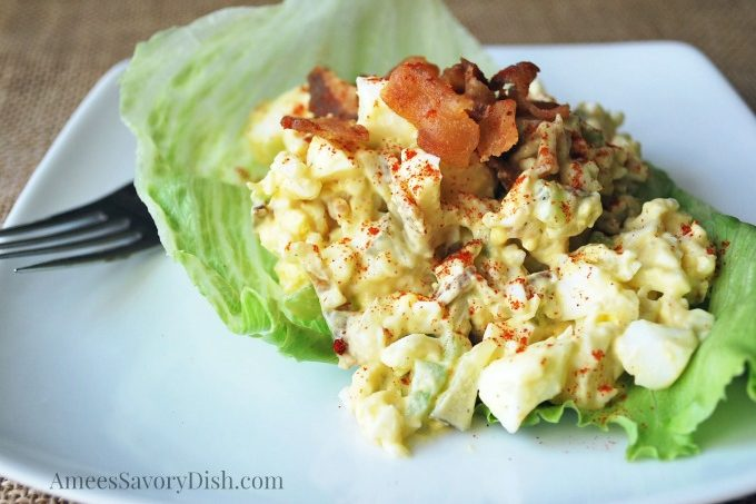 Egg Salad with Bacon {Paleo}