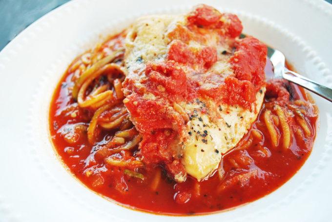 Simple and Healthier Crockpot Italian Chicken