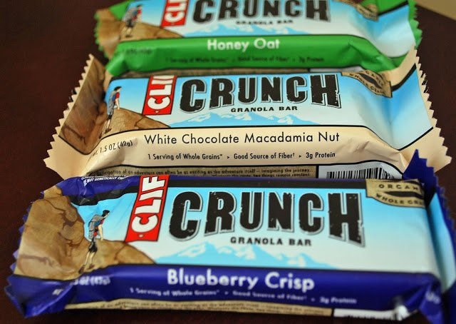 variety of Clif Crunch bars