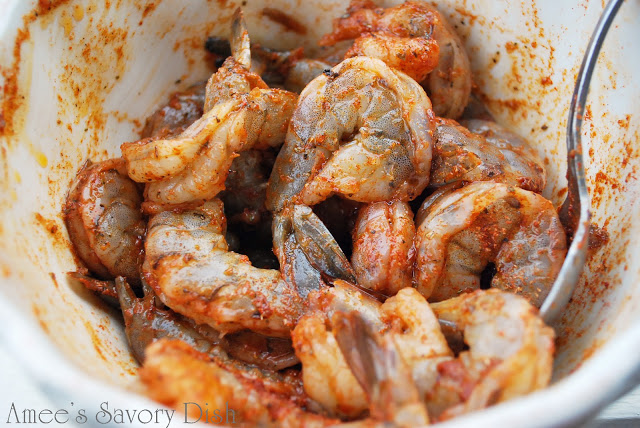 shrimp tossed with odobo seasoning blend