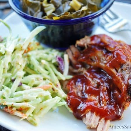 Crockpot Barbecue Pork plate
