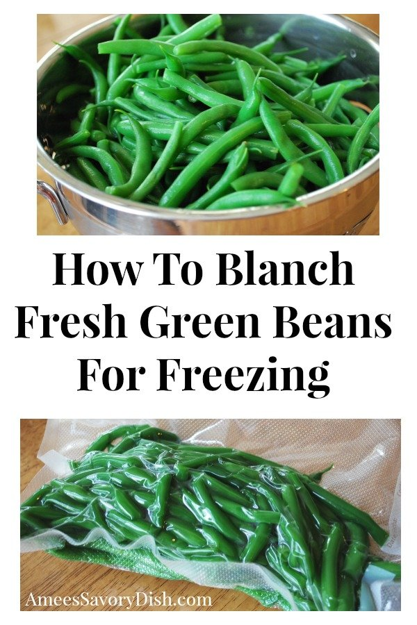 It's easy-breezy to blanch fresh green beans.  I'm sharing a simple method of how to blanch fresh green beans and packaging them to freeze.