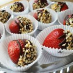 Mascarpone stuffed strawberries with hazelnuts & chocolateare a delicious and easy dessert that makes a gorgeous presentation. They're perfect for Valentine's Day, brunches, baby and wedding showers, or any time you want something indulgent and sweet, without a lot of sugar or calories.