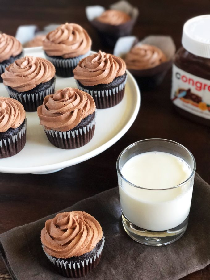 Nutella frosting is a splurge-worthy indulgent buttercream frosting. This decadent frosting is perfect for topping cakes, cupcakes, or even cookies!