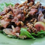 This Fig Walnut Proscuitto Salad with Fig Balsamic Dressing is the best salad ever!
