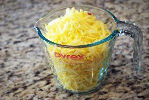 shredded yellow squash for squash pie