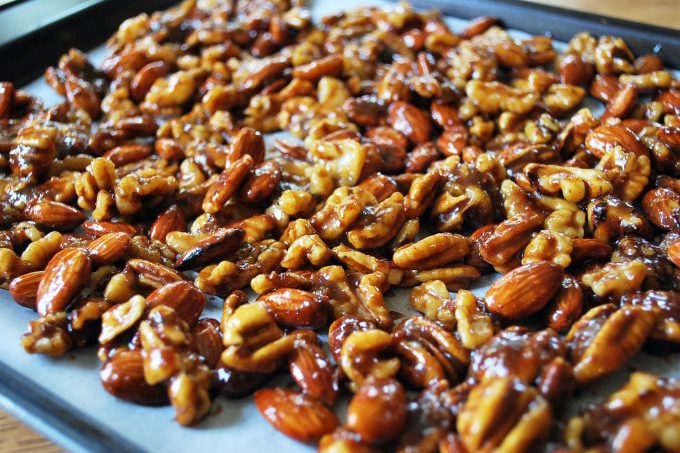 Sweet and Spicy Candied Nuts recipe