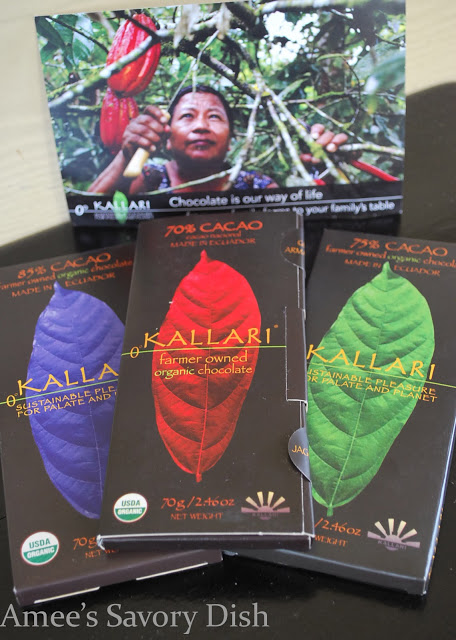 Dark chocolate from Kallariis organic, sustainable, and farmer-owned. It is also incredibly delicious!