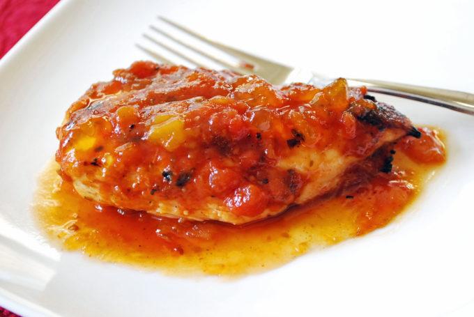 Easy salsa glazed grilled chicken recipe