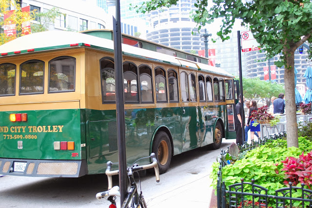 Trolley in Chicago
