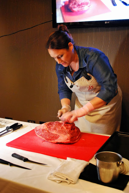 Butchery demonstration at the Live Well event in Chicago, IL