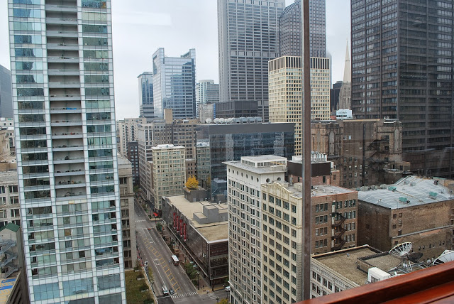 view of Chicago from the Wit Hotel