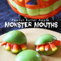 three monster mouth snacks on a plate