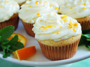 Orange cupcake recipe with cream cheese frosting