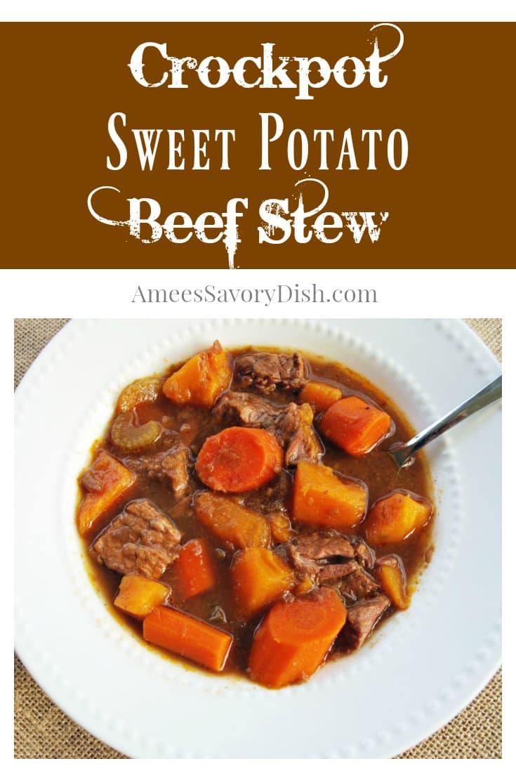 Healthy Crockpot Sweet Potato Beef Stew recipe