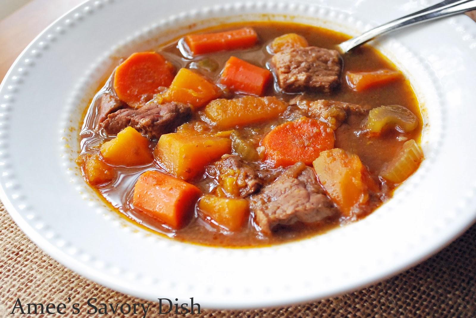 Crockpot Sweet Potato Beef Stew - Amee's Savory Dish