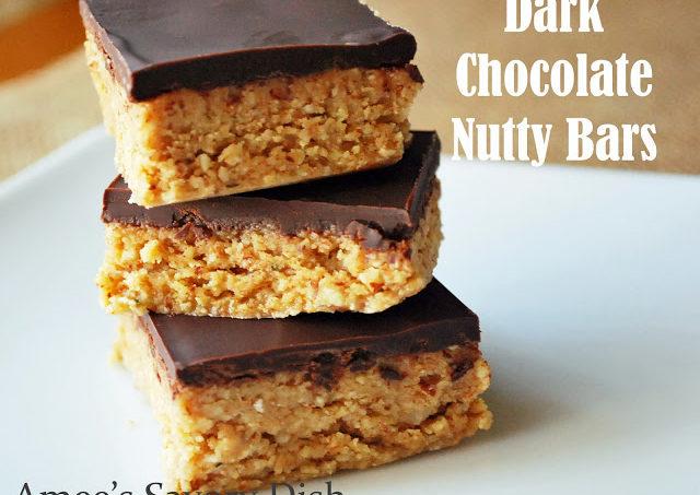 Dark Chocolate Nutty Bars (Paleo-friendly)