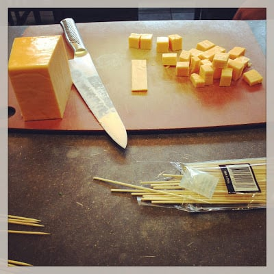 skewers of cheese