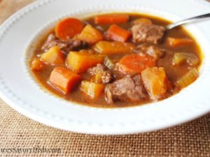 Sweet Potato Beef Stew recipe