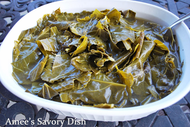 This southern style collard greens recipe is a delicious, easy, classic southern side dish made using fresh collard greens, onions, garlic, and bacon fat.
