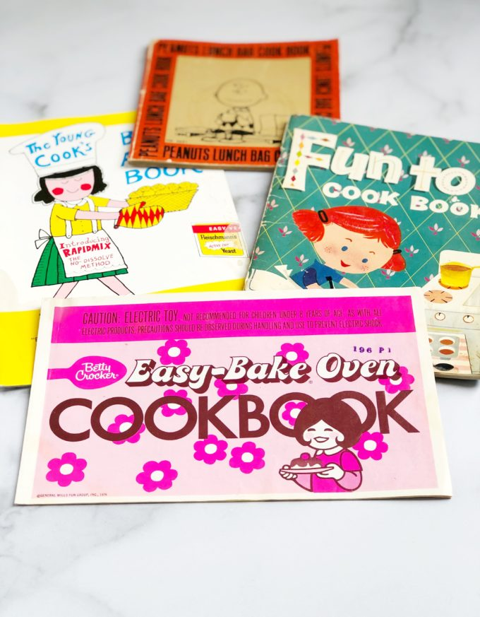 children's cookbooks from the 1970s.