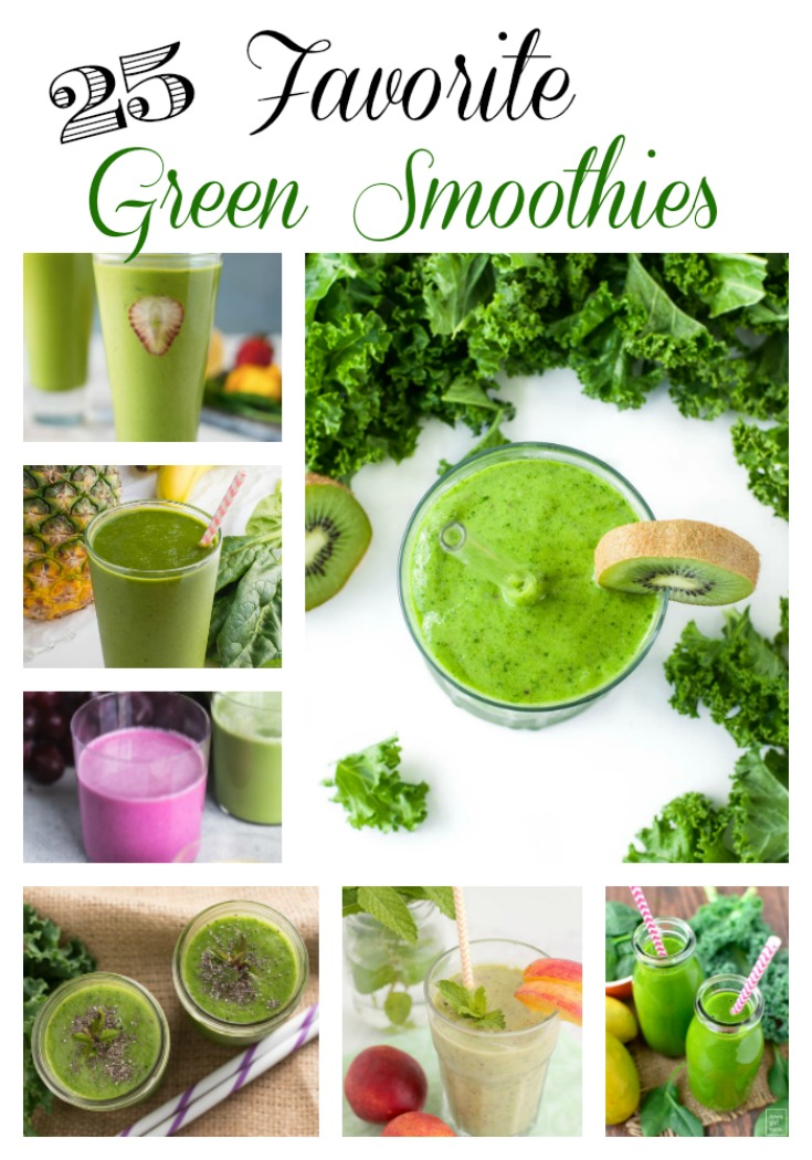 25 Favorite Green Smoothie Recipes! via @Ameessavorydish