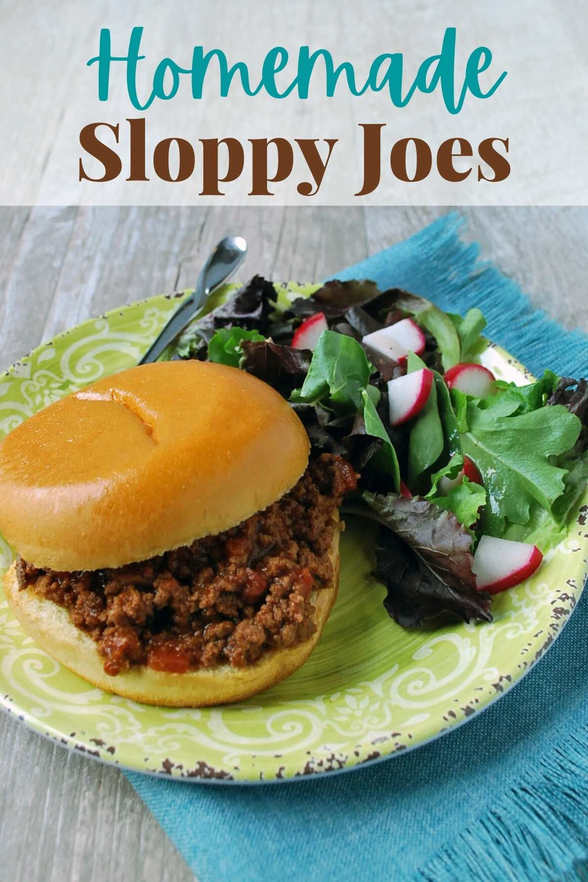 A simple and easy recipe to whip up homemade sloppy joes made with healthier ingredients, such as lean ground beef, fresh garlic, and natural sugar. via @Ameessavorydish