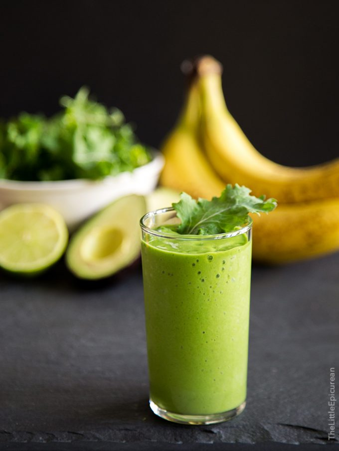 Avocado Kale Smoothie from The Little Epicurean