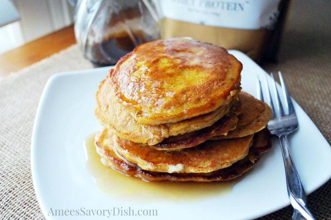 Pumpkin Flax Protein Pancakes